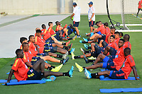 BARRANQUILLA- COLOMBIA, 11-12-2019:  Jugadores de la Selección Colombia Sub-23 durante entrenamiento en el estadio Romelio Martinez previo a los encuentros amistosos de diciembre en la ciudad de Barranquilla. / Players of U-23 Team of Colombia during a training at Romelio Martinez stadium prior the friendly matches on December 2019 in Barranquilla city. Photo: VizzorImage / Alfonso Cervantes / Cont