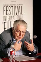 August 25, 2005, Montreal (Qc) Canada<br /> Moritz De Hadeln, who directed the Berlin Film Festival 1980 to 2001, adress the medias about the New Montreal Film Festival (not to be confused with the New Cinema Festival or the Montreal Films Festival aka World Film Festival headed by De hadeln rival Serge Losique) that will be held Sept 18 to 25 2005<br /> Photo : (c) 2005 Pierre Roussel