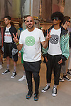 """Fashion designer Ricardo Seco (center) poses with models at his Ricardo Seco Spring Summer 2019 """"Vision"""" collection fashion presentation in Flying Solo, in New York City, on July 9, 2018; during New York Fashion Week: Men's Spring Summer 2019."""
