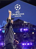 Liverpopol's coach Jurgen Klopp celebrates at the end of the UEFA Champions League final football match between Tottenham Hotspur and Liverpool at Madrid's Wanda Metropolitano Stadium, Spain, June 1, 2019. Liverpool won 2-0.<br /> UPDATE IMAGES PRESS/Isabella Bonotto