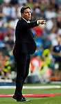 Head coach Eduardo Berizzo of Celta de Vigo gestures during their La Liga match at the Santiago Bernabeu Stadium between Real Madrid and RC Celta de Vigo on 27 August 2016 in Madrid, Spain. Photo by Diego Gonzalez Souto / Power Sport Images