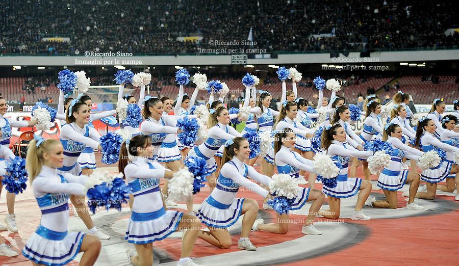 - NAPOLI 8 FEB  -  Stadio San Paolo    Napoli - Roma<br /> NELLA FOTO:   le cheerleaders del Napoli calcio.