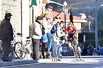 Vincenzo Nibali (ITA) Bahrain-Merida summits alone the Poggio di Sanremo during the 109th edition of Milan-Sanremo 2018 running 294km from Milan to Sanremo, Italy. 17th March 2018.<br /> Picture: LaPresse/Fabio Ferrari | Cyclefile<br /> <br /> <br /> All photos usage must carry mandatory copyright credit (© Cyclefile | LaPresse/Fabio Ferrari)