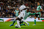 Ferland Mendy of Real Madrid and Emerson Aparecido of Real Betis Balompie during La Liga match between Real Madrid and Real Betis Balompie at Santiago Bernabeu Stadium in Madrid, Spain. November 02, 2019. (ALTERPHOTOS/A. Perez Meca)