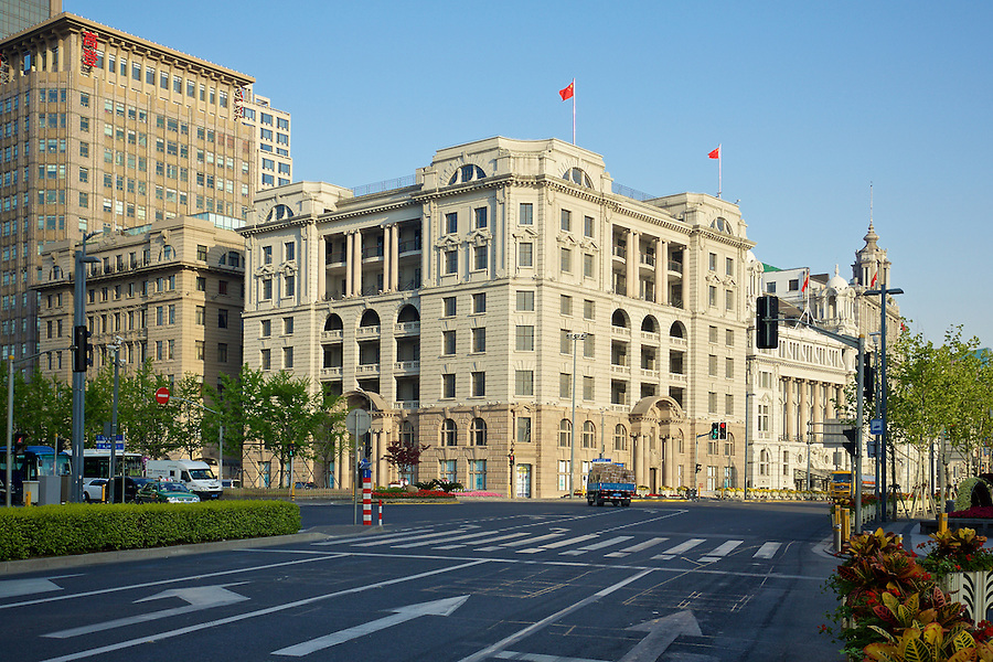 The Asiatic Petroleum Building At No.1 The Bund, Shanghai.  Completed In 1916 As The McBain Building, It Was Acquired On A Long Lease By The Asiatic Petroleum Company (North) Limited In 1917.  An Eighth Floor Was Added In 1939.