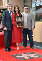 LOS ANGELES, CA. November 19, 2019: Idina Menzel, Alan F. Horn & Josh Gad at the Hollywood Walk of Fame Star Ceremony honoring Kristen Bell & Idina Menzel.<br /> Pictures: Paul Smith/Featureflash