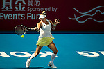 Bethanie Mattek-Sands of USA vs Caroline Garcia of France during their Singles Round 2 match at the WTA Prudential Hong Kong Tennis Open 2016 at the Victoria Park Tennis Stadium on 13 October 2016 in Hong Kong, China. Photo by Marcio Rodrigo Machado / Power Sport Images