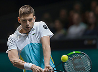 Rotterdam, The Netherlands, 15 Februari 2020, ABNAMRO World Tennis Tournament, Ahoy,<br /> Filip Krajinovic (SRB).<br /> Photo: www.tennisimages.com