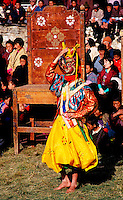 Mask dancer at Jampa Lhakang Drup in Bhutan.