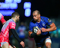 2nd October 2020; RDS Arena, Dublin, Leinster, Ireland; Guinness Pro 14 Rugby, Leinster versus Dragons; Rhys Ruddock (Leinster) prepares to charge in to a tackle from Jonah Holmes (Dragons)