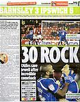 Daily Mirror - Sport.Barnsley v Ipswich Town.Football Mania.12th December 2011