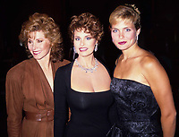 Stephanie Powers Raquel Welch and Kim Alexis 1990 Photo By Adam Scull/PHOTOlink