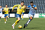 Kilmarnock v St Johnstone……15.08.20   Rugby Park  SPFL<br />Michael O'Halloran and Gary Dicker<br />Picture by Graeme Hart.<br />Copyright Perthshire Picture Agency<br />Tel: 01738 623350  Mobile: 07990 594431