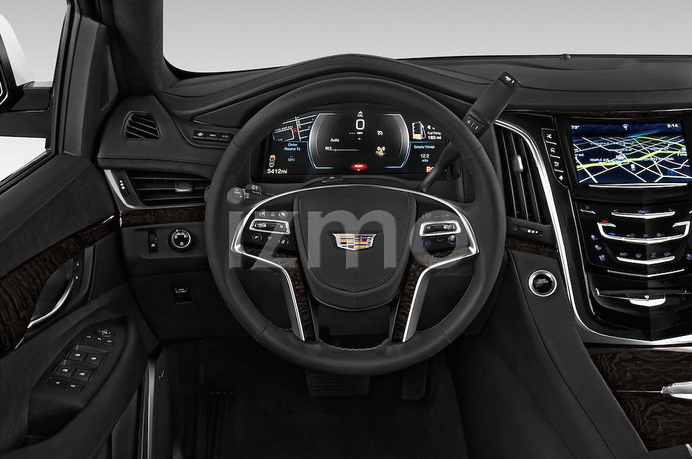 Car pictures of steering wheel view of a 2017 Cadillac Escalade Platinum 5 Door SUV Steering Wheel