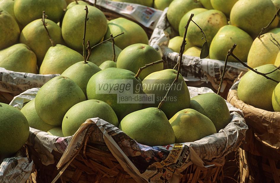 Asie/Malaisie/Kuala Lumpur: Marché de gros - Détail étal de fruits