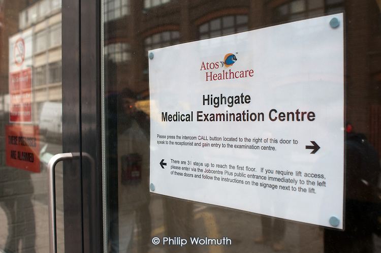Highgate Medical Assessment Centre, run by Atos Healthcare, a private company which assesses claimants registered for Incapacity Benefit.  The centre is in the same building as Archway Job Centre Plus.