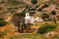 Traditional Greek Orthodox church on Ios, Cyclades Island, Greece