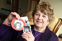 """COPY BY TOM BEDFORD<br /> Pictured: Shirley Williams, holding some of the pictures of her late cousin Joan Phillips.<br /> Re: A midwife had her dying wish granted when an undertaker she delivered more than 50 years ago arranged her funeral in Haverfordwest, Pembrokeshire.<br /> Joan Phillips told undertaker Robin Folland: """"I brought you into the world so I want you to take me out of it.""""<br /> The pair joked about the unusual arrangement for years when they saw each other in the street.<br /> But when Joan passed away aged 88 Robin stepped in to give her a good send off.<br /> Robin, 54, said: """"Joan lived nearby and when my mum went into labour she was there to deliver me.<br /> """"When I started working for my dad's funeral company Joan told me I had to look after her when the time came.<br /> """"She used to say that she brought me into the world so I had to take her out of it."""