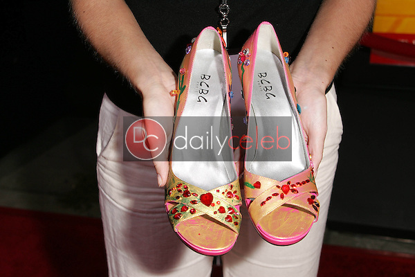 Shoes designed by Teri Hatcher  for Clothes Off Our Back Online auction