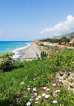 Italy, Calabria, Cittadella del Capo: beach resort, secluded beach at off season