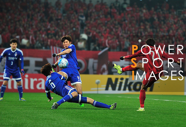 Shanghai SIPG (CHN) vs Suwon Samsung (KOR) during the AFC Champions League 2016 Group Stage at Shanghai Stadium on 02 March 2016 in Shanghai, China. Photo by Marcio Machado/Power Sport Images.