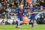 Andres Iniesta of FC Barcelona (L) in action during the La Liga 2017-18 match between FC Barcelona and Deportivo La Coruna at Camp Nou Stadium on 17 December 2017 in Barcelona, Spain. Photo by Vicens Gimenez / Power Sport Images