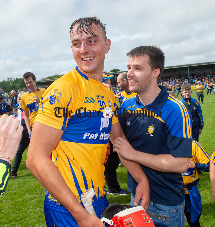A delighted Peter Duggan of Clare  following their Munster championship game against Limerick in Ennis. Photograph by John Kelly.