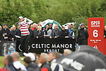 Ross Fisher drives at the 6th hole during the final round of the ISPS Handa Wales Open 2012..03.06.12.©Steve Pope