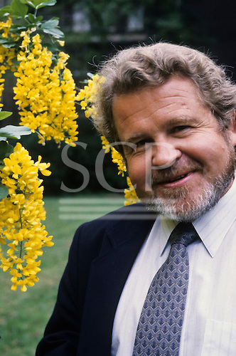 London, England. Anthropologist and Ethnobotanist Darrell Posey at the Royal Geographical Society, 2000.