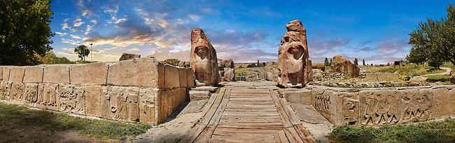 Pictures & Images of the Sphinx gate Hittite sculpture, Alaca Hoyuk (Alacahoyuk) Hittite archaeological site  Alaca, Çorum Province, Turkey,