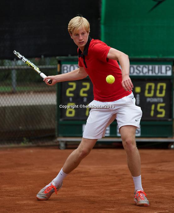 10-08-13, Netherlands, Rotterdam,  TV Victoria, Tennis, NJK 2013, National Junior Tennis Championships 2013,  Botic van de Zandschulp<br /> <br /> Photo: Henk Koster