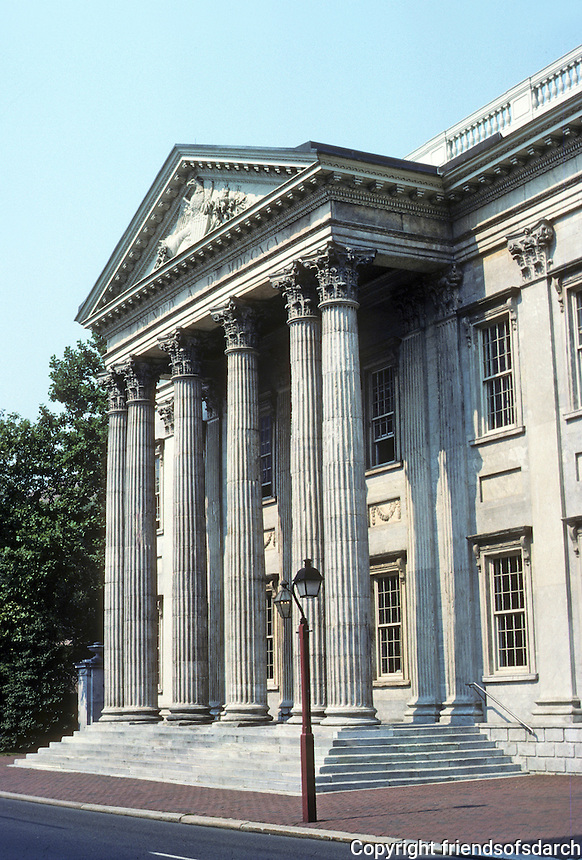 Philadelphia: First Bank of U. S.  1795-97. Modeled on the Exchange in Dublin. Photo '88.