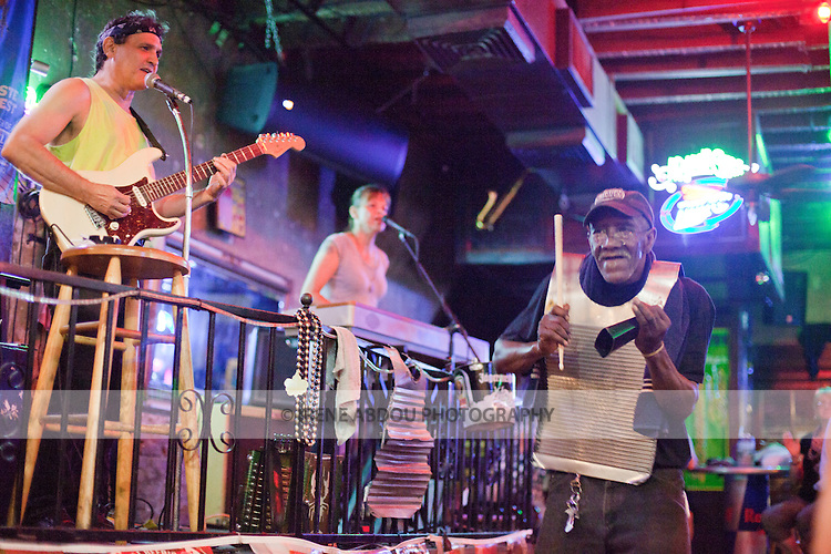 The Danny T Band plays a mean zydeco at a bar on New Orleans, Louisiana's famed Bourbon Street.