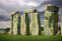 Stonehenge Neolithic ancient standing stone circle monument, Wilshire, England