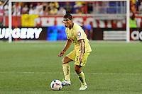 Harrison, NJ - Wednesday July 06, 2016: Erik Pimentel during a friendly match between the New York Red Bulls and Club America at Red Bull Arena.