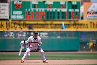 Rochester Red Wings third baseman Matt Hague (13) during a game against the Scranton/Wilkes-Barre RailRiders on June 7, 2017 at Frontier Field in Rochester, New York.  Scranton defeated Rochester 5-1.  (Mike Janes/Four Seam Images)