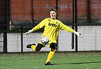 goalkeeper Ambre Collet (1 Charleroi) pictured during a female soccer game between Sporting Charleroi and Eendracht Aalst on the 8th  matchday of the 2020 - 2021 season of Belgian Scooore Womens Super League , friday 20 th of November 2020  in Marcinelle , Belgium . PHOTO SPORTPIX.BE | SPP | DAVID CATRY