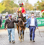 "OCT10, 2020 : Dayoutoftheoffice with Junior Alverado aboard, wins the ""Win & You're In""   Grade 1 Frizette Stakes, for 2-year olds fillies, at Belmont Park, Elmont, NY.  Sue Kawczynski/Eclipse Sportswire/CSM"
