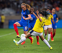 Belo Horizonte, Brazil - August 3, 2016: France defeated Colombia 4-0 during their first group game at the 2016 Olympics at Mineirao Stadium.