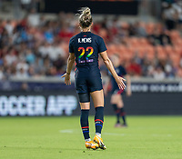 HOUSTON, TX - JUNE 13: Kristie Mewis #22 of the USWNT calls for the ball during a game between Jamaica and USWNT at BBVA Stadium on June 13, 2021 in Houston, Texas.