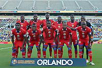Action photo the match Brazil vs Haiti, Corresponding Group -B- America Cup Centenary 2016, at Citrus Bowl, Camping World, Stadium,<br /> <br /> Foto del partido Brasil vs Haiti, Correspondiente al Grupo -B-  de la Copa America Centenario USA 2016 en el Estadio Citrus Bowl, Camping World, en la foto: Seleccion Haiti<br /> <br /> 08/06/2016/MEXSPORT/ISAAC ORTIZ