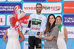 Luis Mas Bonet (ESP) Caja Rural-Seguros RGA retains the White Turkish Beauties Jersey at the end of Stage 6 of the 2015 Presidential Tour of Turkey running 184km from Denizli to Selcuk. 30th April 2015.<br /> Photo: Tour of Turkey/Mario Stiehl/www.newsfile.ie