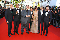 Alejandro G.Inarritu et Guillermo Del Toro, Diego Luna sur le tapis rouge pour la soirée dans le cadre de la journée anniversaire de la 70e édition du Festival du Film à Cannes, Palais des Festivals et des Congres, Cannes, Sud de la France, mardi 23 mai 2017.