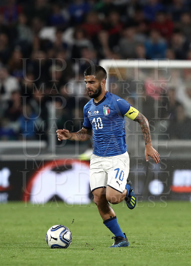 International friendly football match Italy vs The Netherlands, Allianz Stadium, Turin, Italy, June 4, 2018. <br /> Italy's Lorenzo Insigne in action during the international friendly football match between Italy and The Netherlands at the Allianz Stadium in Turin on June 4, 2018.<br /> UPDATE IMAGES PRESS/Isabella Bonotto
