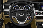 Car pictures of steering wheel view of a 2018 Toyota Highlander LE-Plus 5 Door SUV Steering Wheel
