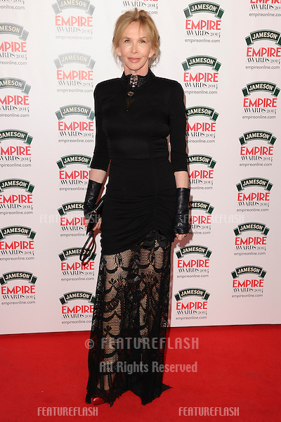 Trudie Styler<br /> arives for the Empire Magazine Film Awards 2014 at the Grosvenor House Hotel, London. 30/03/2014 Picture by: Steve Vas / Featureflash