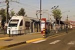 MAX Lightrail at the Rose Quarter Train Stop in Portland, Oregon