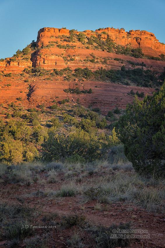 Daybreak above Mescal Trail, Arizona