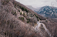 peloton from above<br /> <br /> 76th Paris-Nice 2018<br /> stage 6: Sisteron > Vence (198km)