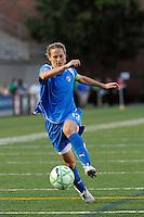 Kristine Lilly (13) of the Boston Breakers plays the ball. Sky Blue FC defeated the Boston Breakers 2-1 during a WPS regular season match at Harvard Stadium in Boston, MA, on July 12, 2009.